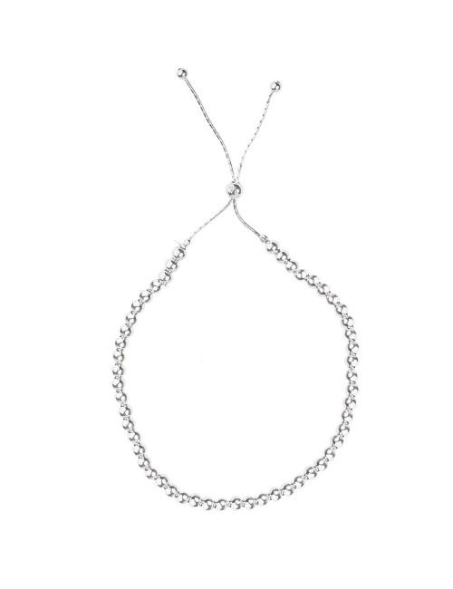 Collar bolitas eguzkilore plata