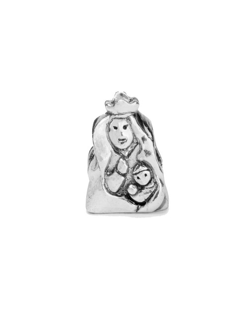 Charm Virgen Blanca abalorio de plata
