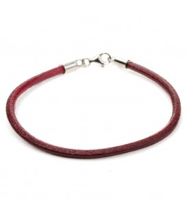 Pulsera lisa granate