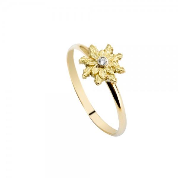 Anillo de Oro y Diamante Joyerías Eguzkilore
