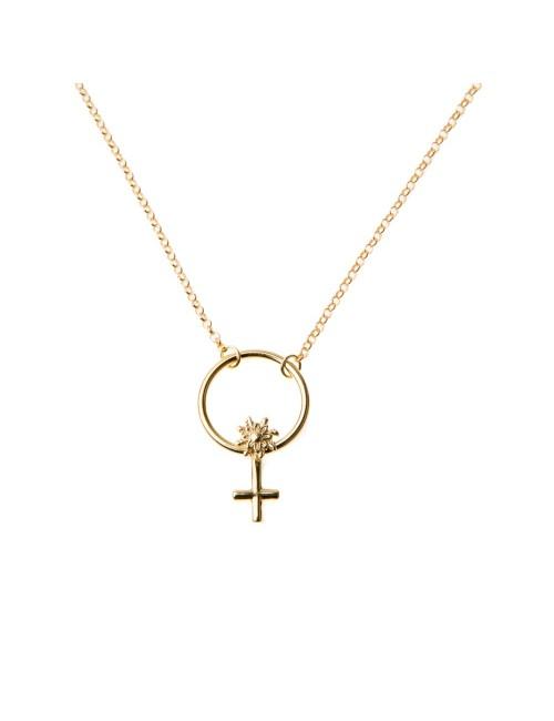 Colgante Símbolo de la Mujer con cadena Oro Amarillo
