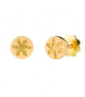 Pendientes redondos oro amarillo