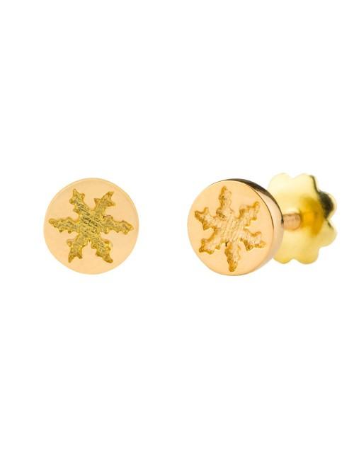 Pendientes  Eguzkilore Redondos Oro Amarillo