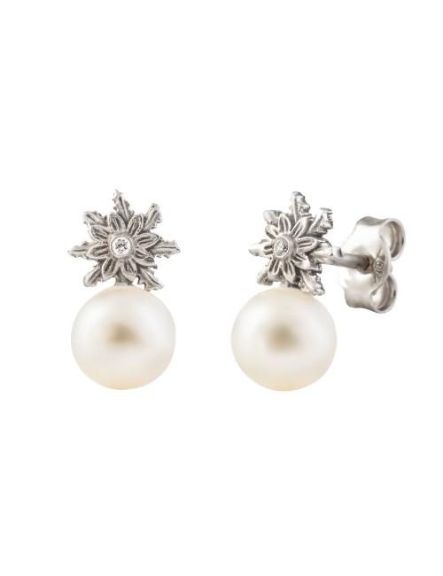 Pendientes perla Urban 2 blanco