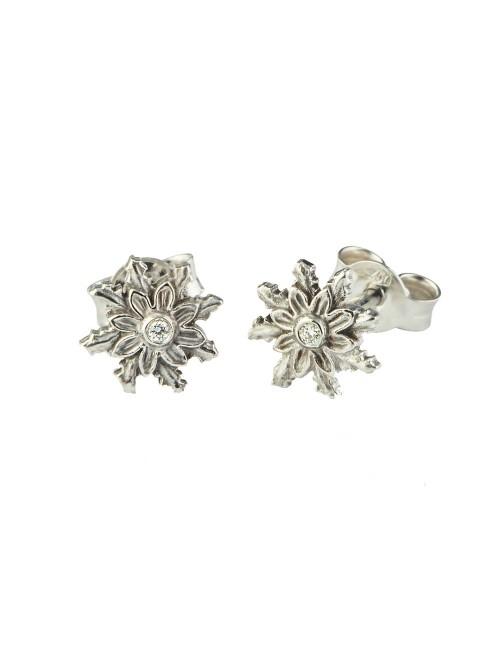 Pendientes Eguzkilore Oro Blanco y Diamante