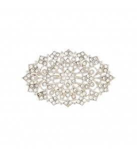 Broche Oval Blanco