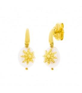 Pendientes Perla Dorado