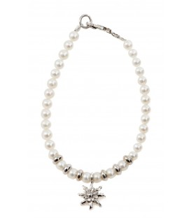 Pulsera infantil de perlas y plata Eguzkilore