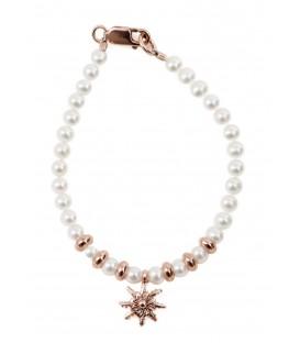 Pulsera infantil de perlas y cobre Eguzkilore
