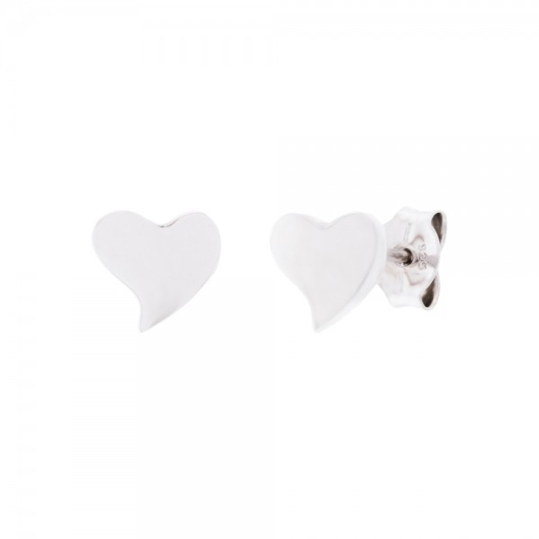 Pendientes Corazón Plata Joyerías Eguzkilore