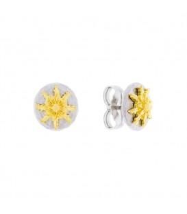 Pendientes R1 Plata y Dorado