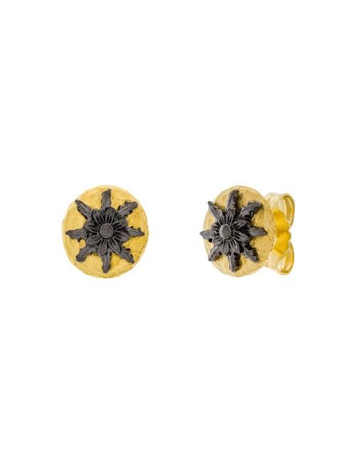 Pendientes R1 Dorado y Rutenio