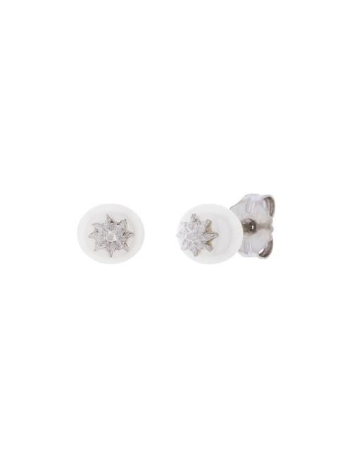 Pendientes Perla Cultivada 7,5mm Eguzkilore Plata