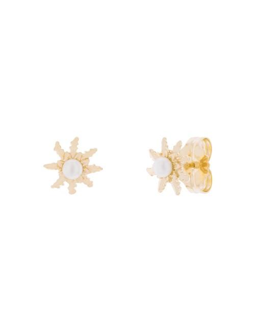 Pendientes 11mm Perla Cultivada Dorado
