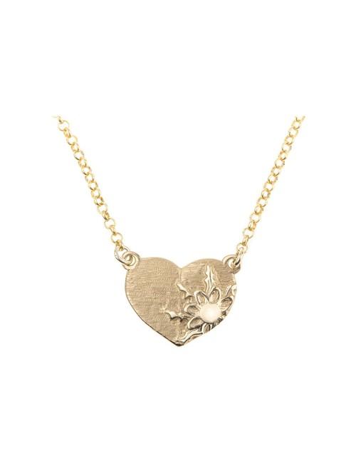 Colgante Corazón egzukilore Dorado Personalizable