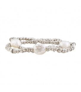 Pulsera perla plata