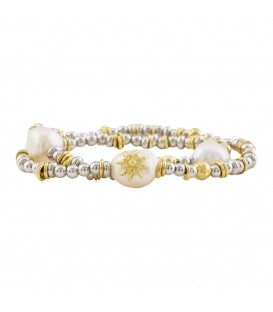 Pulsera perla dorada