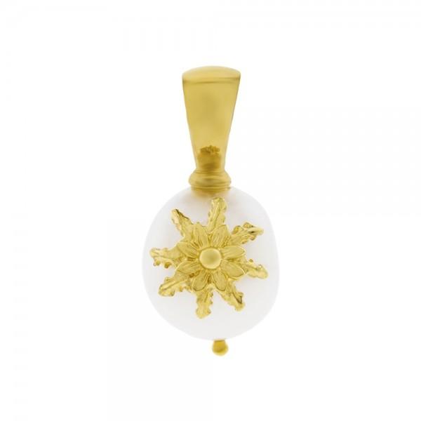 Colgante Perla Dorado Joyerías Eguzkilore