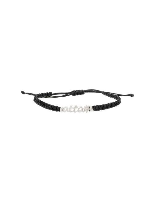Pulsera Aita cuerda negra de Plata