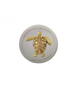 Mi Moneda M Tortuga Dorada Piedras Amarillas