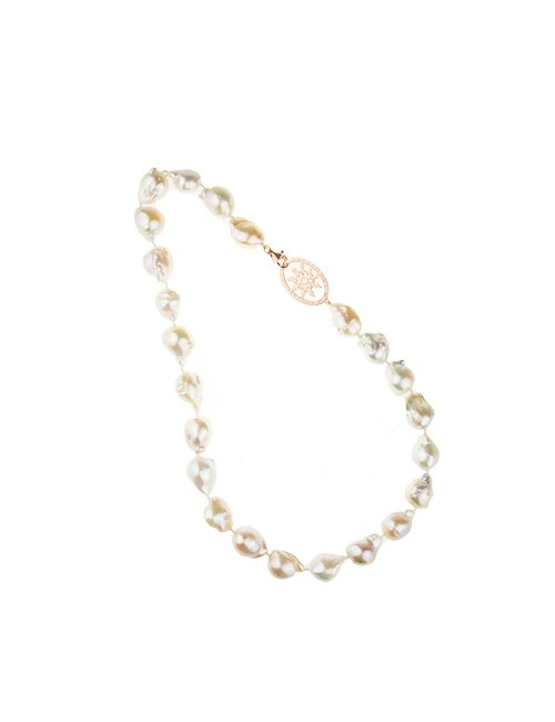 Collar Eguzkilore corto de Perlas Cultivadas