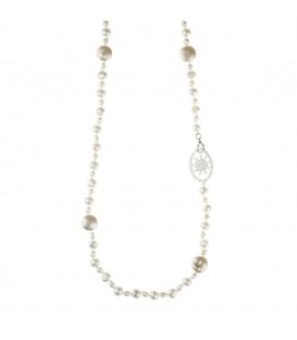 Collar de perlas cultivadas largo