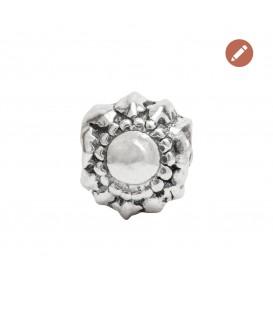 Charm Eguzkilore redondo de plata personalizable