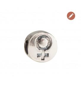 Charm Símbolo de la Mujer 8M en plata