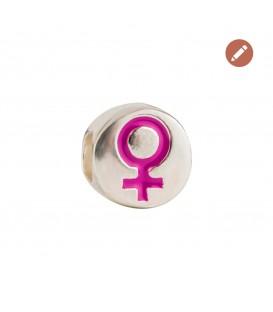 Charm Simbolo de la Mujer en Plata y Esmalte Morado Joyerías Eguzkilore