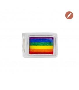 Charm Bandera LGBTI en Plata Joyerías Eguzkilore