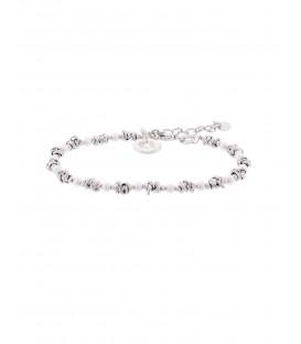 Pulsera Eguzkilore Besos y Abrazos con Perlas de Plata