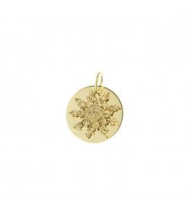 Medalla Eguzkilore 15mm de oro amarillo