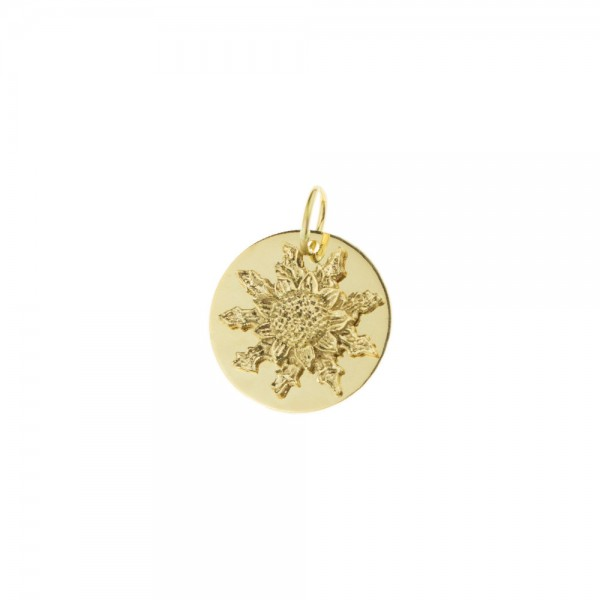 Medalla Eguzkilore 15mm de Oro Amarillo Joyerías Eguzkilore