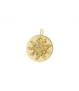 Medalla Eguzkilore 18mm de oro amarillo
