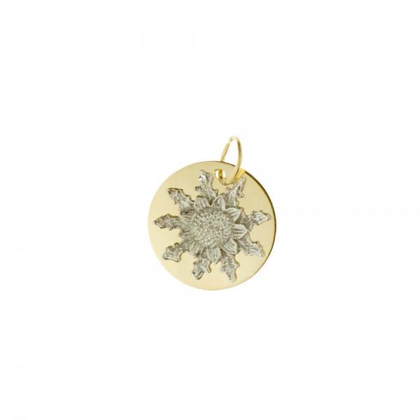 Medalla Eguzkilore 15mm de Oro Bicolor Joyerías Eguzkilore