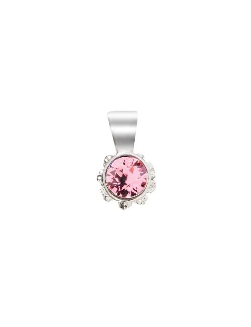 Colgante Distira de Plata con Cristal Swarovski Rosa