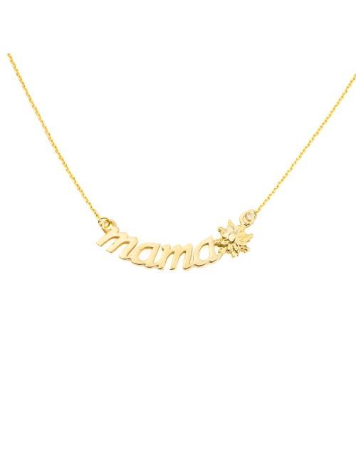 Collar Mamá de Oro Amarillo