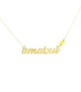 Gargantilla Amatxu de Oro Amarillo Joyerías Eguzkilore