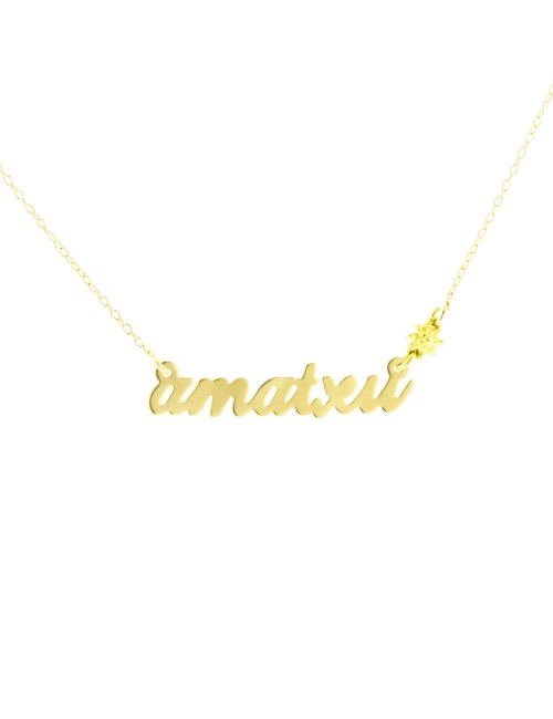 Gargantilla Amatxu de Oro Amarillo