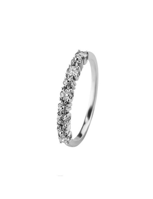 Sortija de Compromiso Eguzkilore de Oro Blanco y Diamantes