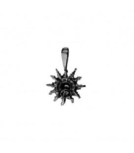 Colgante Eguzkilore 14mm de Plata Negra Joyerías Eguzkilore