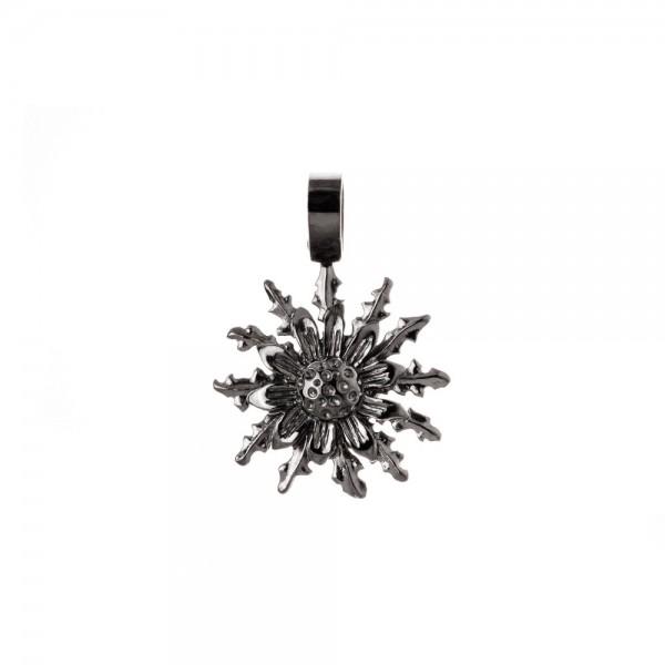 Colgante Eguzkilore 21mm de Plata Negra