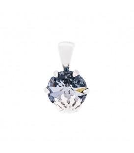 Colgante Queen 3 de Plata con Cristal Swarovski Azul Cobalto