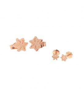 Pack Dúo Pendientes Eguzkilore de Oro Rosa