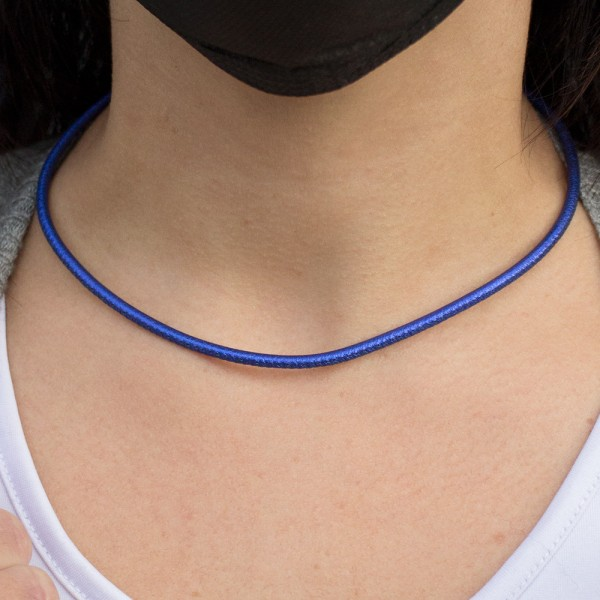 Cordón de Cuero Azul