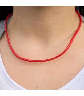 Cordón de Cuero Rojo