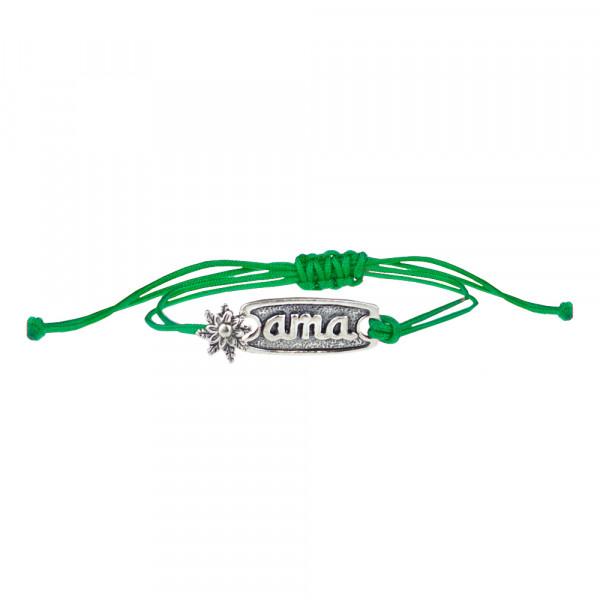Pulsera Ama Verde de Plata con Acabado Rústico Joyerías Eguzkilore