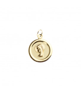 Medalla Virgen Niña Oro Ovalada Joyerías Eguzkilore