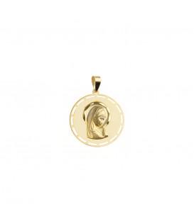 Medalla calada Oro Virgen Niña Joyerías Eguzkilore