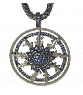 Colgante de plata con circonita azul